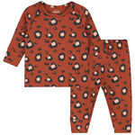 Prenatal baby meisjes pyjama - Dark Orange Bown