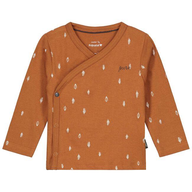 Prénatal baby unisex overslag shirtje Pure - Sienna