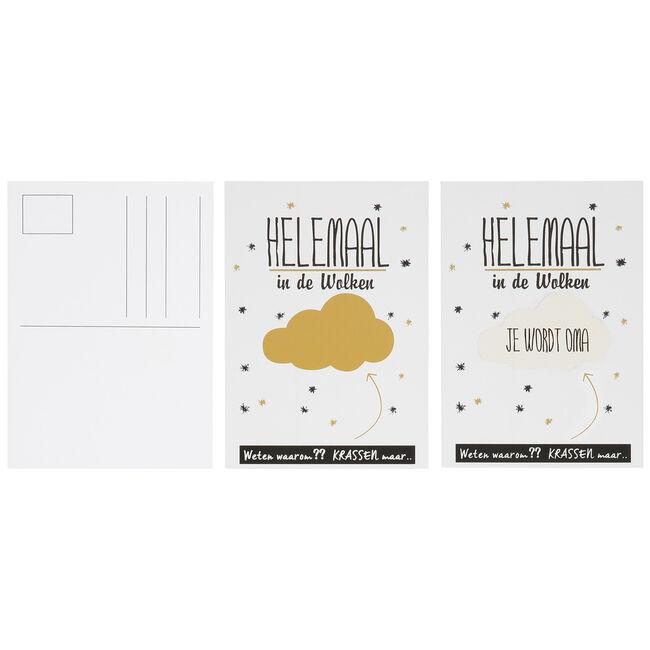 Prénatal kraskaart je wordt oma - White