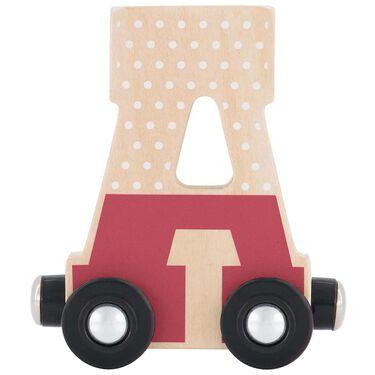 Prenatal houten namentrein letter A -