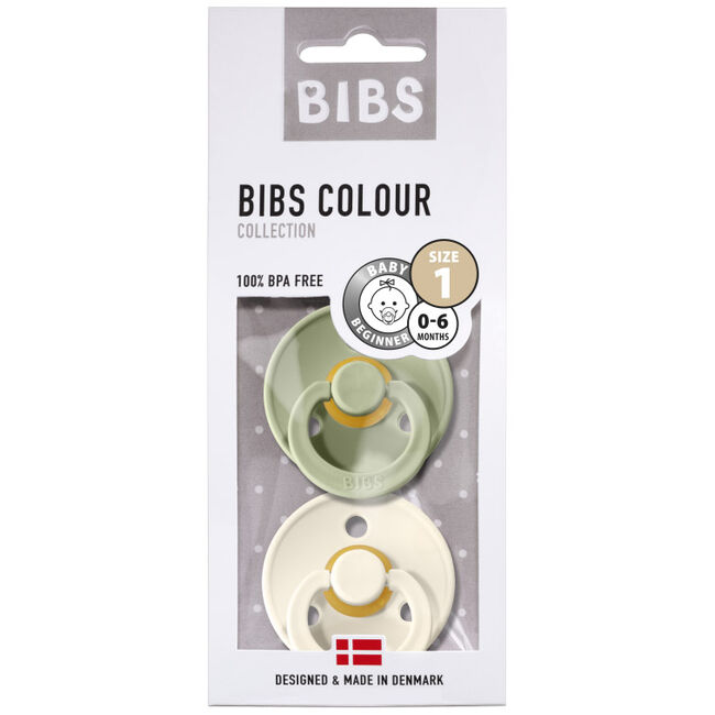 Bibs fopspeentje Size 1 - Sage/Ivory