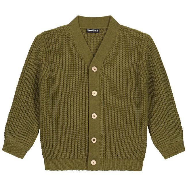Sweet Petit peuter unisex vest Sammy - Dark Olive Green