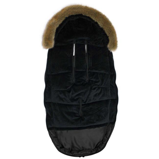 Dooky voetenzak groot - Zwart Bont