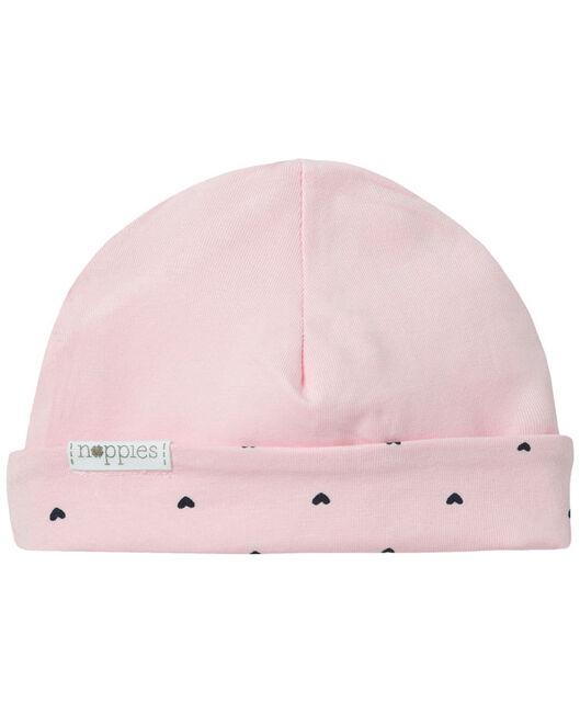 Noppies newborn meisjes mutsje Hart - Pink