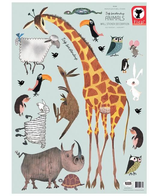 Groot Bestek Voor Aan Muur.Kek Stickers Dieren Groot