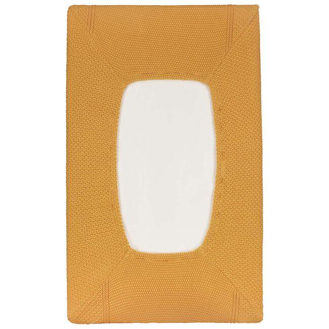 Prenatal Little Knits aankleedkussenhoes - Light Yellow Brown