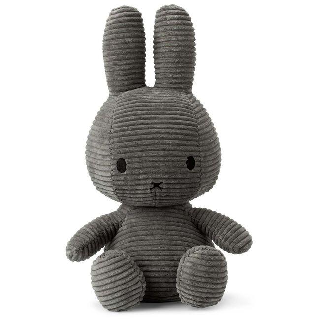 Nijntje knuffel corduroy 33cm - Grey