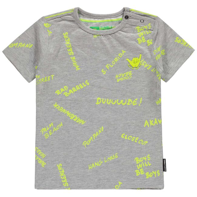 Tumble 'N Dry peuter jongens t-shirt - Grey Melee Light
