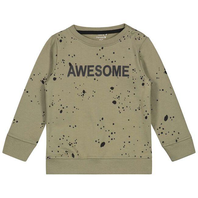 Prenatal peuter jongens sweater - Khakigreen