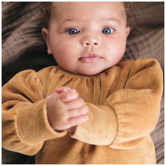 Sweet petit baby meisjes jurk Mirre - Yellow Brown
