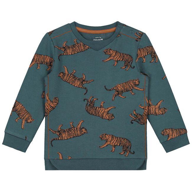 Prenatal baby jongens sweater - Medium Blue
