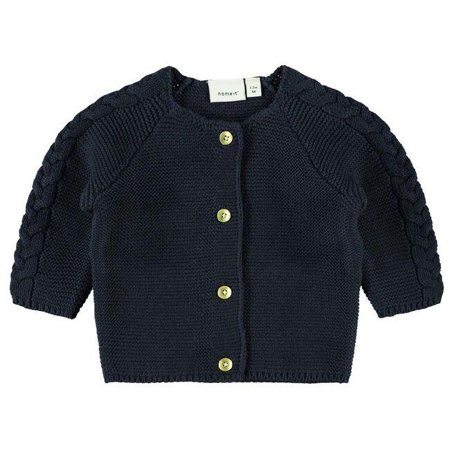 Name it baby meisjes vest - Dark Blue