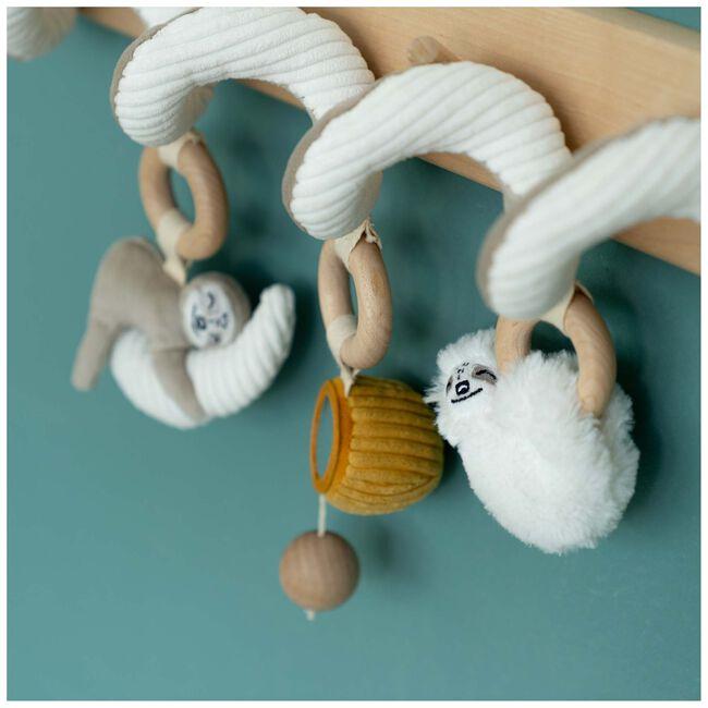 Prénatal boxspiraal luiaard - White