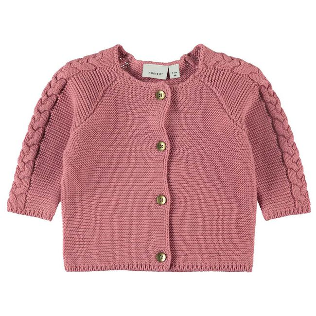 Name it baby meisjes vest - Rosered