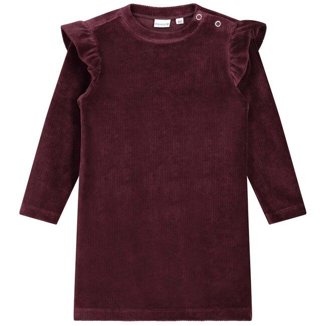 Prenatal baby meisjes jurk - Dark Redshade