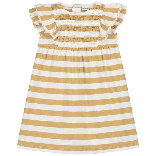 Prénatal peuter meisjes jurk - Mid Brown Melange
