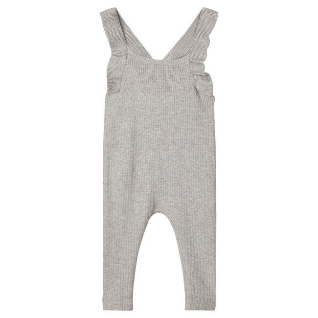 Lil'Atelier meisjes jumpsuit - Rock Grey Melange