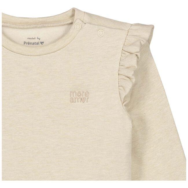 Prénatal baby meisjes sweater - Soft Brown Melange