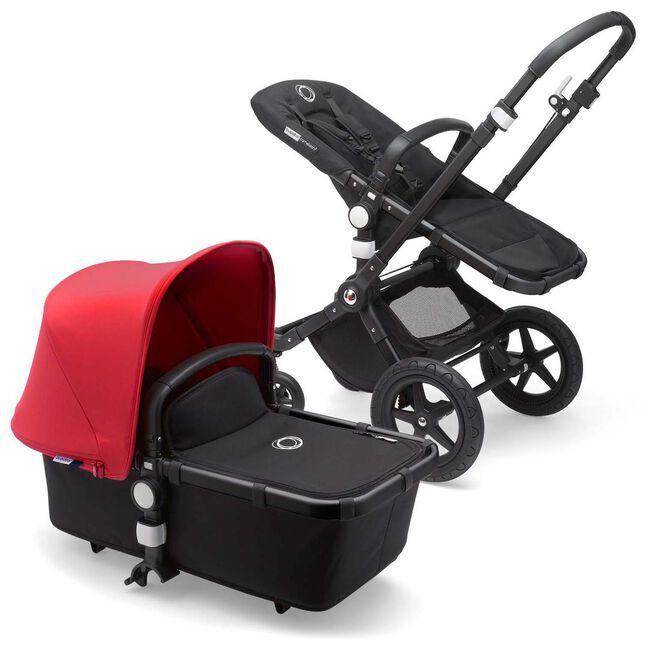 Bugaboo Cameleon3 Plus compleet - Black-Black-Red