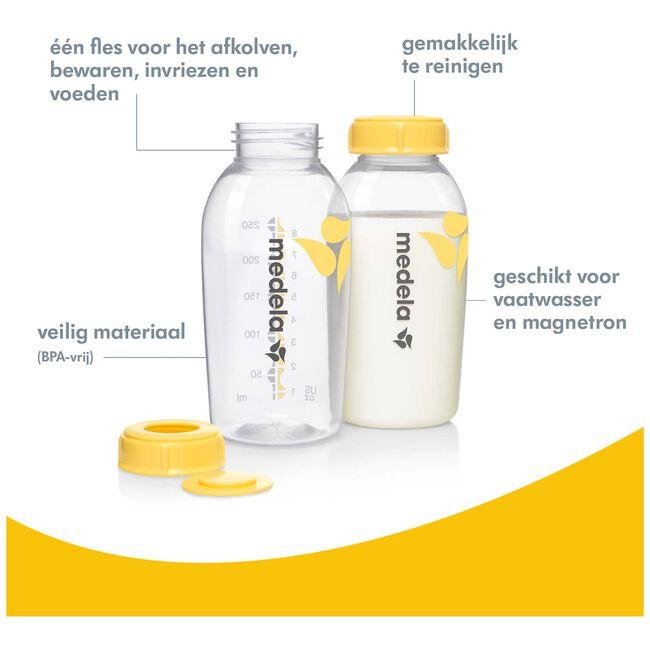 Medela moedermelkfl 250ml 2st - Geen Kleurcode