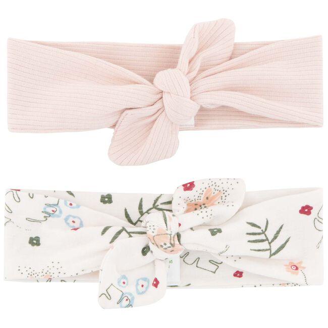Prénatal newborn meisjes haarband 2-pack - Dark Off-White