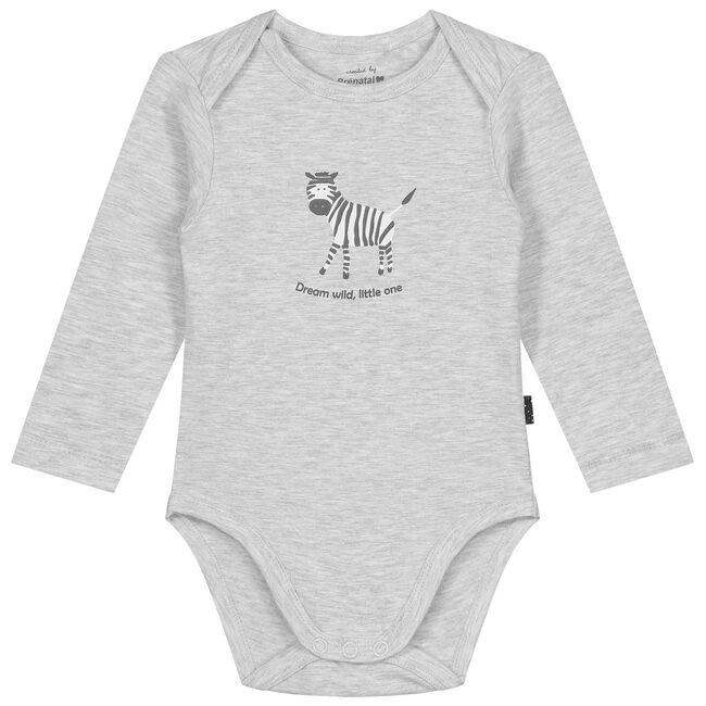 Prenatal unisex romper - Grey Melee Light