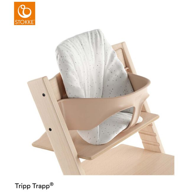 Tripp Trapp® Baby Cushion Timeless Grey - Pearl White