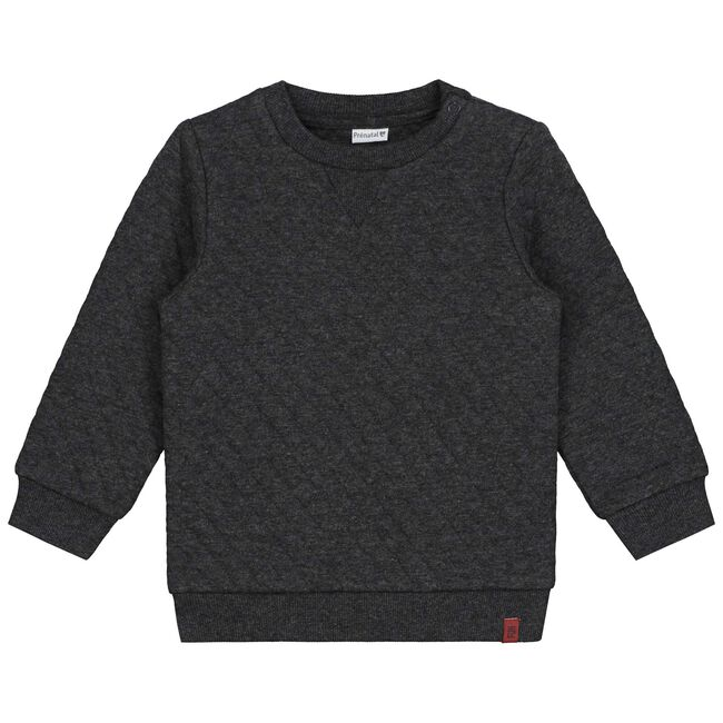 Prénatal peuter jongens sweater - Rock Grey Melange