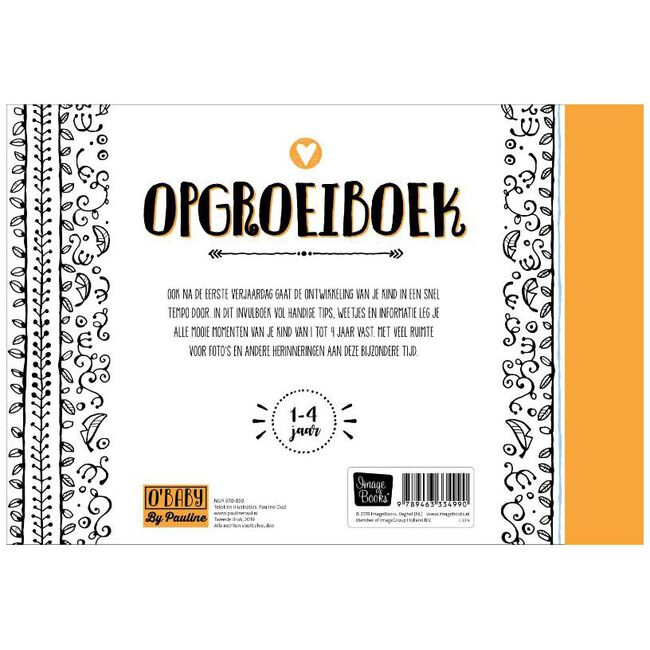 Pauline Oud O'Baby Opgroeiboek - Geen Kleurcode