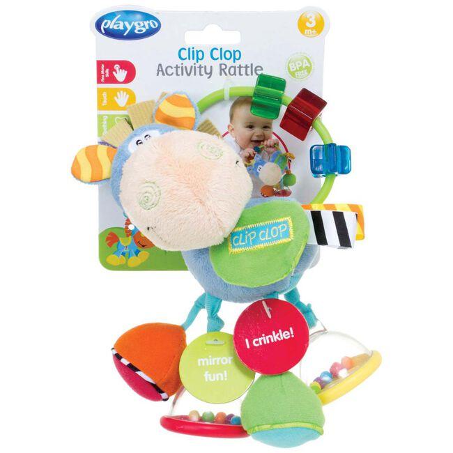 Playgro Activity Rattle Clip Clop rammelaar -