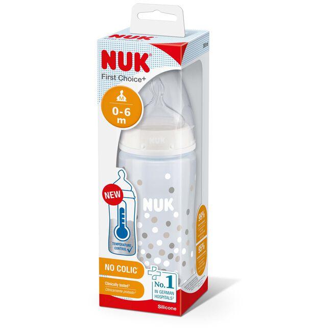 Nuk fles 300 ml 0-6mnd warmtegevoelig - Transparant