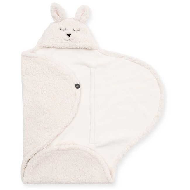 Jollein wikkeldeken Bunny - White