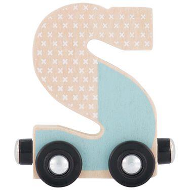Prénatal houten namentrein letter S -