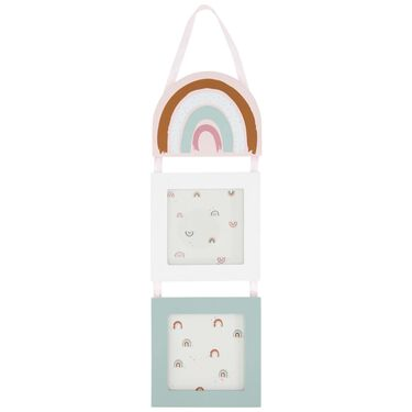 Prenatal fotolijstjes hangend regenboog -