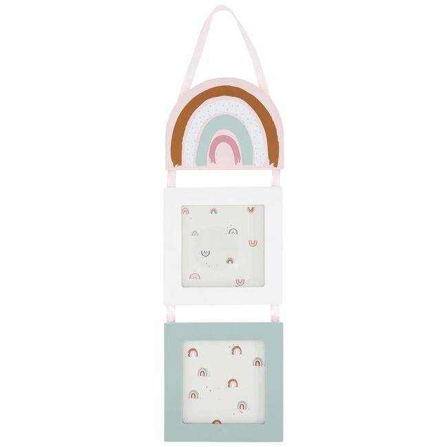 Prenatal fotolijstjes hangend regenboog - Pink