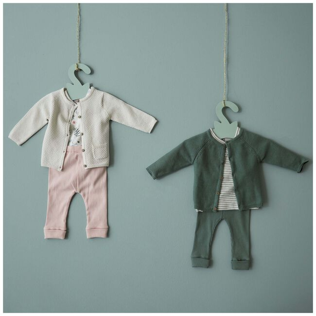 Prénatal newborn meisjes rib broekje - Powder Pink