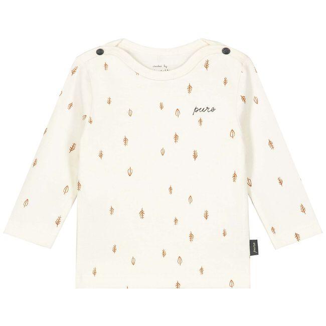 Prénatal baby unisex shirtje Pure - Dark Off-White