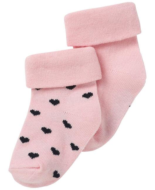 Noppies newborn meisjes sokjes Hart 2 stuks - Pink