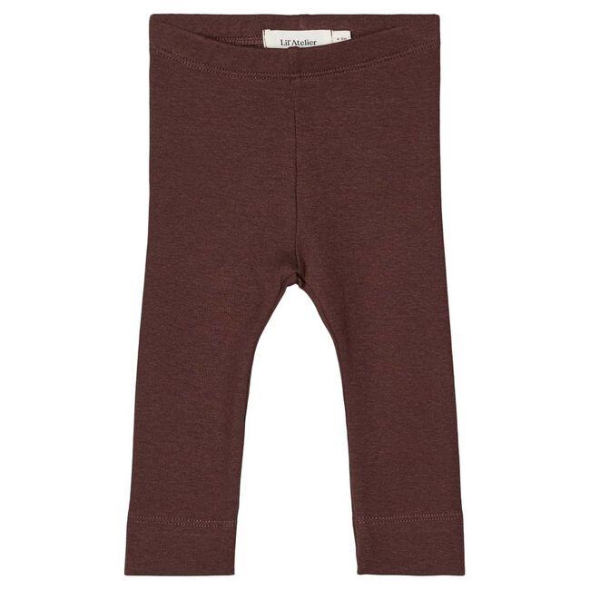 Lil' Atelier meisjes legging - Red Brown