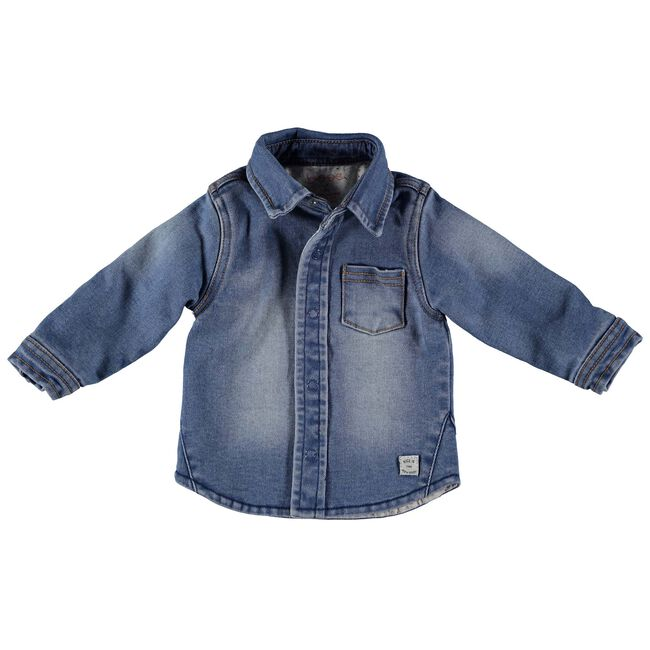 Bess baby jongens blouse - Stonegrey