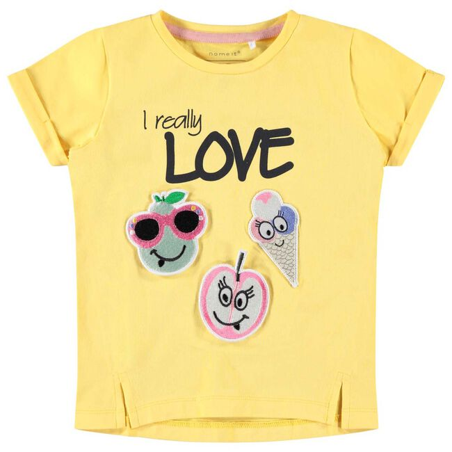 Name it peuter meisjes T-shirtje - Gold Yellow