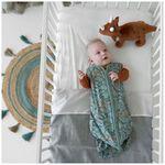 Prenatal vloerkleed rond jute naturel/groen -