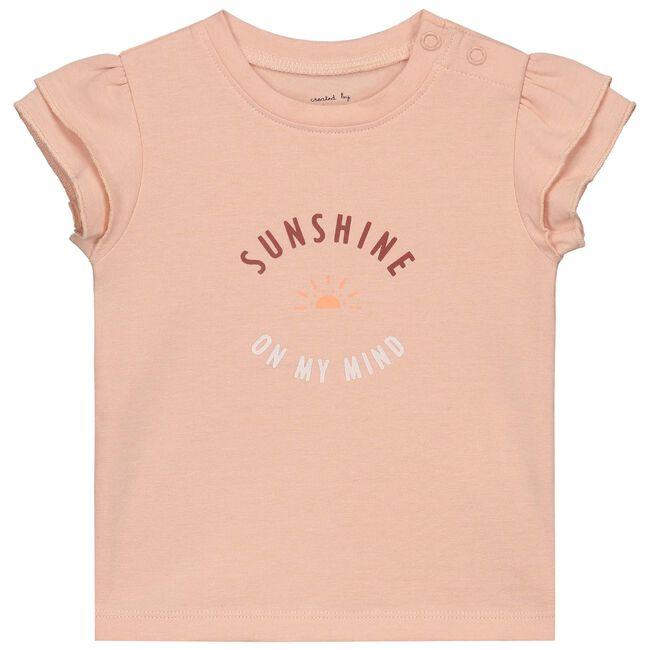 Prenatal baby meisjes T-shirt - Dark Peach Pink