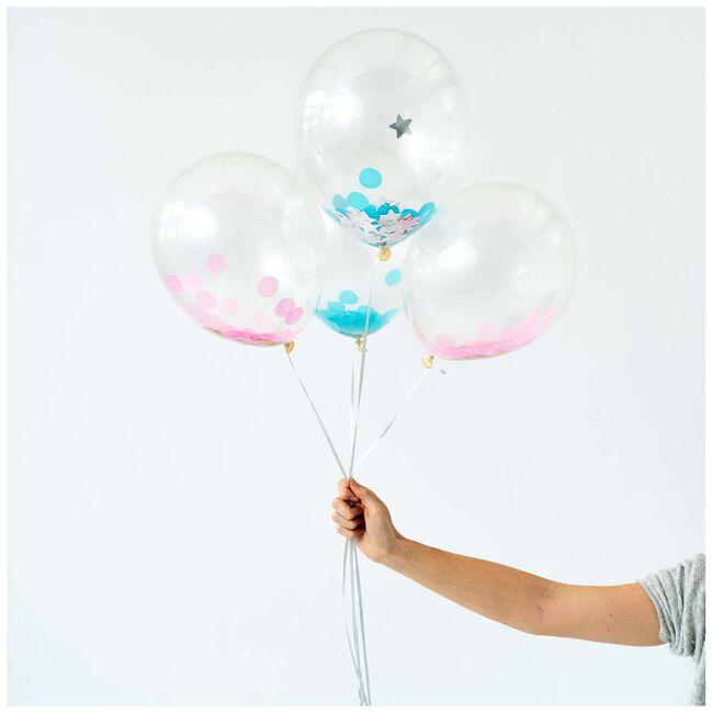 Prénatal ballonnen meisje 6 stuks -