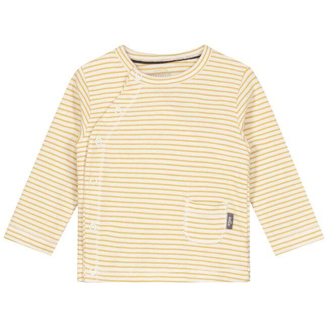 Prenatal newborn unisex overslag shirt - Ivoor Wit
