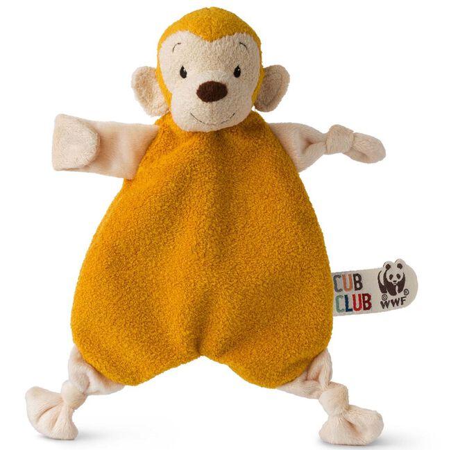 WWF Cub Club knuffeldoekje aap - Yellow