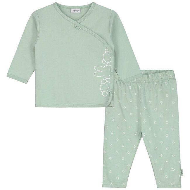 Prenatal unisex overslag pyjama met Nijntje - Light Mint Green