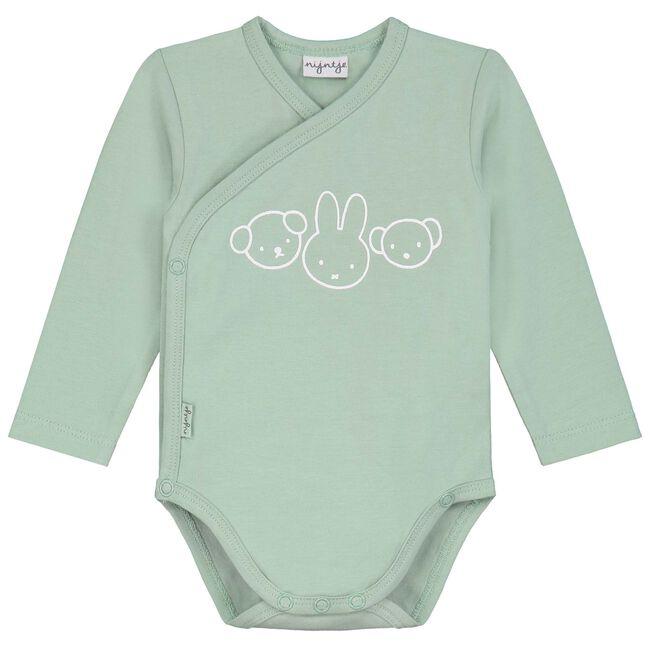 Prenatal unisex overslag romper met Nijntje - Light Mint Green