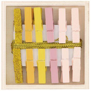 Prénatal kaartknijpers 12 stuks - Light Rosered