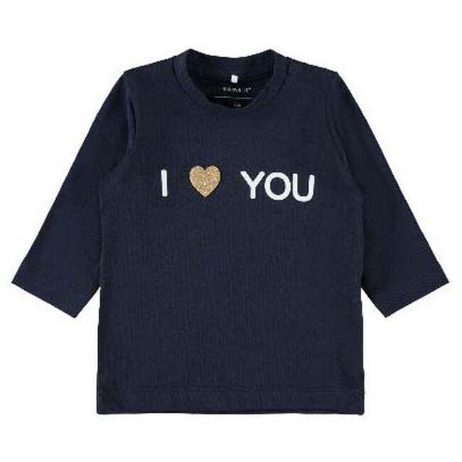 Name it baby meisjes T-shirt - Dark Blue